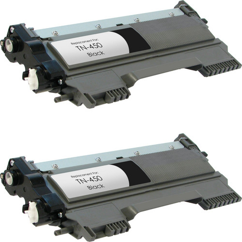 Twin Pack - Compatible replacement for Brother TN450 black laser toner cartridge