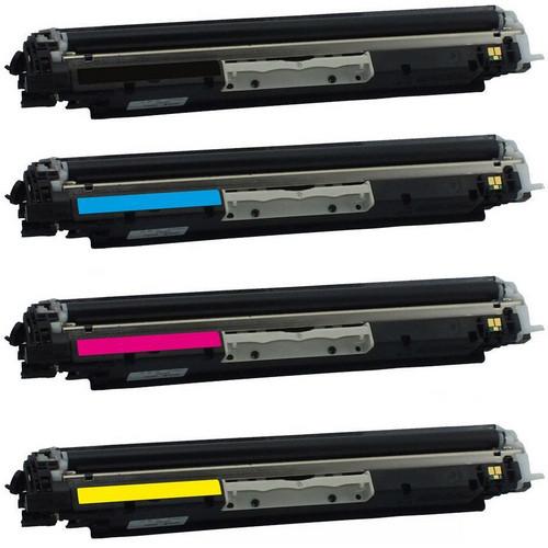 4 Pack - Compatible replacement laser toner cartridges for HP 130 Black HP 130A Color Set