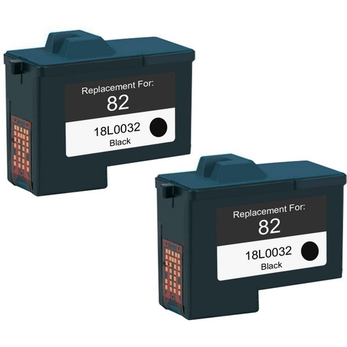 Twin Pack - Remanufactured replacement for Lexmark #82 (18L0032)
