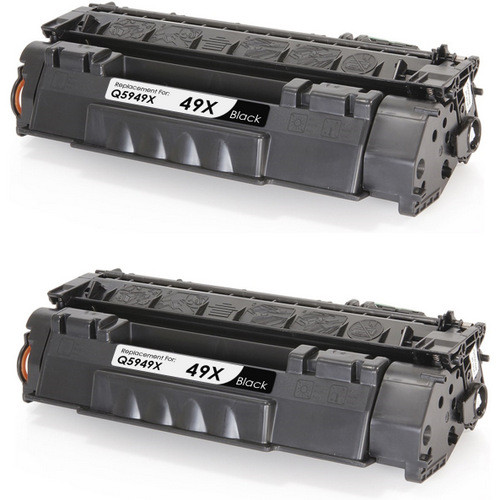 Twin Pack - Compatible replacement for HP 49X (Q5949X) black laser toner cartridge
