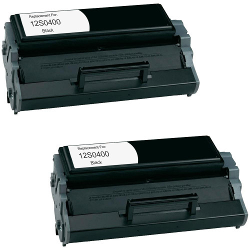 Twin Pack - Remanufactured replacement for Lexmark 12S0400 (E220)