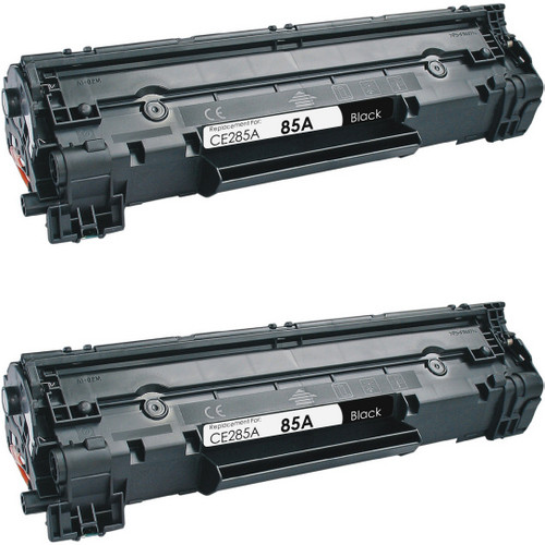 Twin Pack - Compatible replacement for HP 85A (CE285A) black laser toner cartridge