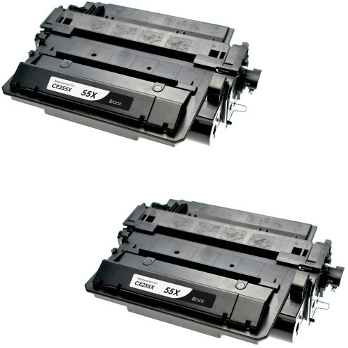 Twin Pack - Compatible replacement for HP 55X (CE255X) black laser toner cartridge