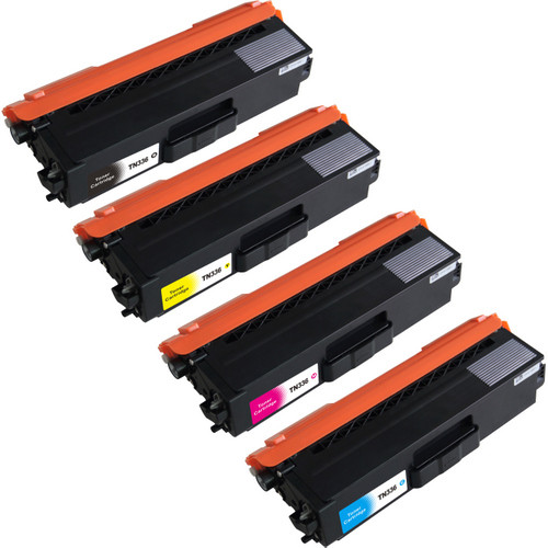 4 Pack - Compatible replacement for Brother TN336 laser toner cartridges