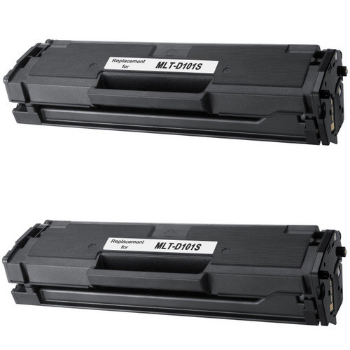 Twin Pack -Compatible replacement for Samsung MLT-D101S black laser toner cartridge