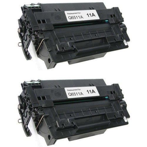 Twin pack - Compatible replacement for HP 11A (Q6511A) black laser toner cartridge