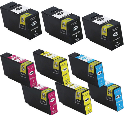 9 pack - Compatible replacement for Canon PGI-1200XL high yield black and color ink cartridges