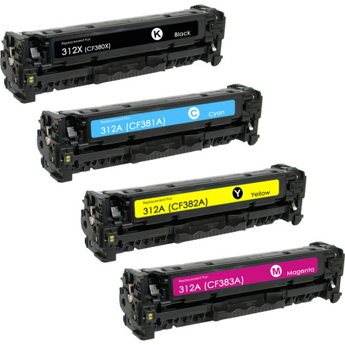 HP CF380X, CF381A, CF382A, CF383A toner cartridge set