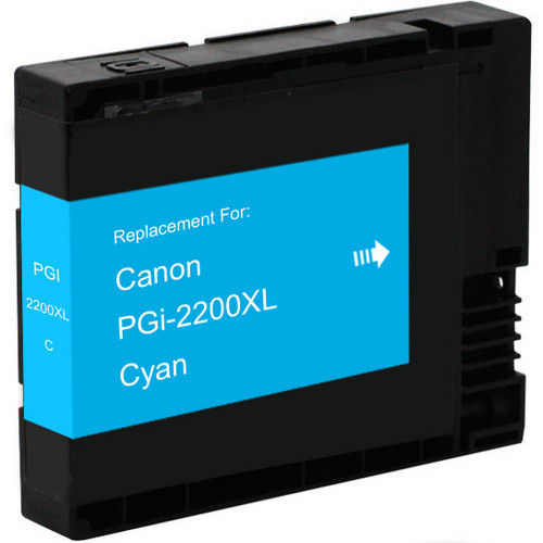 Compatible replacement for Canon PGI-2200xl (9268B001) high yield cyan ink cartridge