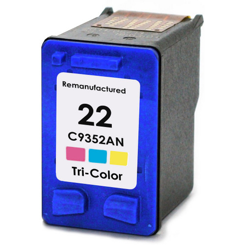 Remanufactured replacement for HP 22 (C9352AN) color ink cartridges