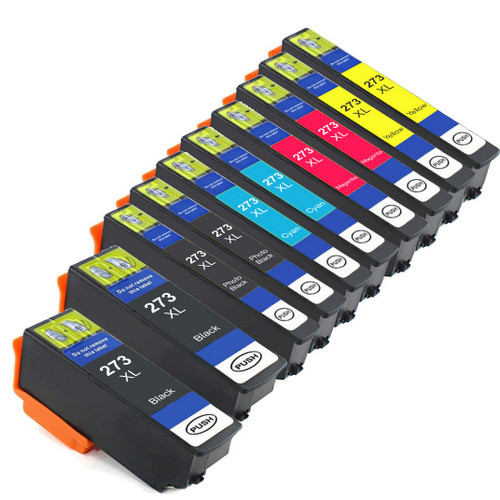 Epson 273XL High Yield Combo Pack of 10, Includes 2 black, 2 Photo Black, 2 cyan, 2 magenta and 2 yellow Remanufactured Replacement Ink Cartridges
