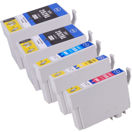 pson 252XL High Yield Combo Pack of 5, Includes 2 black, 1 cyan, 1 magenta and 1 yellow