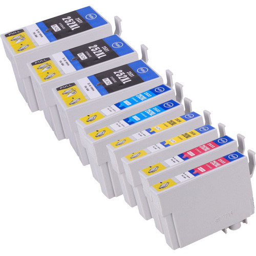 Epson 252XL High Yield Combo Pack of 9, Includes 3 black, 2 cyan, 2 magenta and 2 yellow