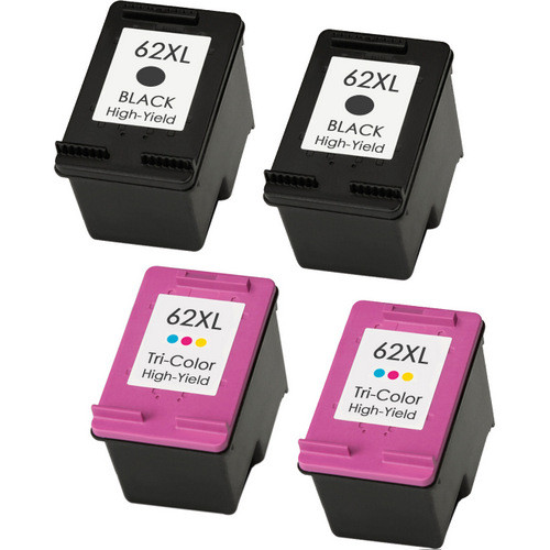 HP 62XL Ink Cartridge High Yield Combo Pack (2 black, 2 color)