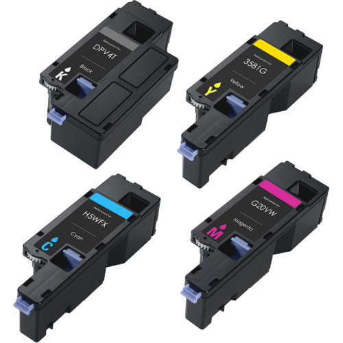 Dell E525W printer, Includes 1 black, 1 cyan, 1 magenta and 1 yellow toner cartridges