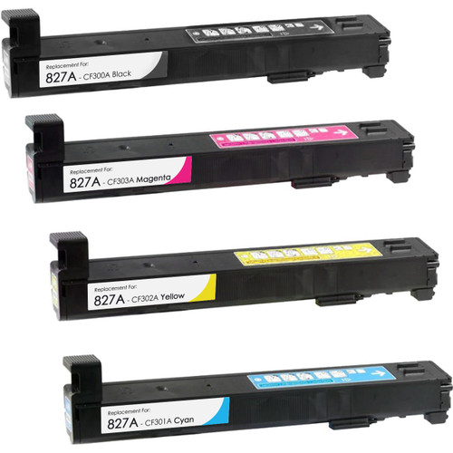 HP 827A Toner Cartridge High Yield Combo Pack