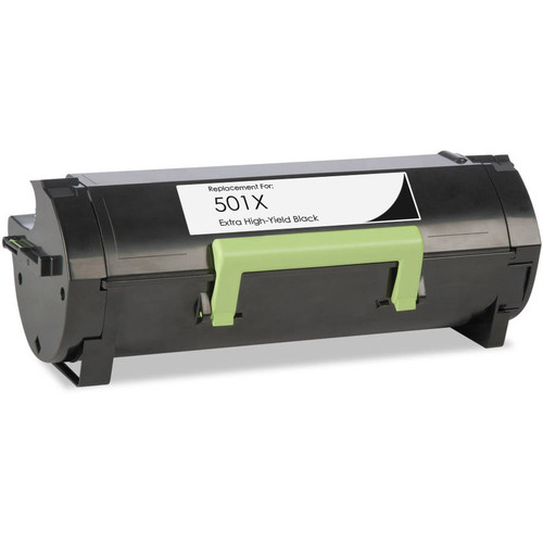 Lexmark 50F1X00 (501X) Extra High Yield black toner cartridge