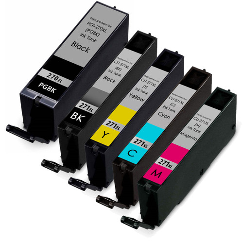 5 Pack - Canon PGi-270XL and Cli-271XL Ink Cartridge Set