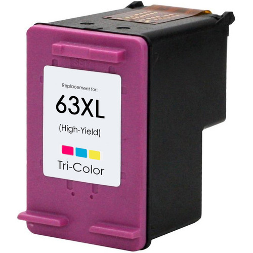 Replacement Ink Cartridge For HP 63XL Color, High Yield