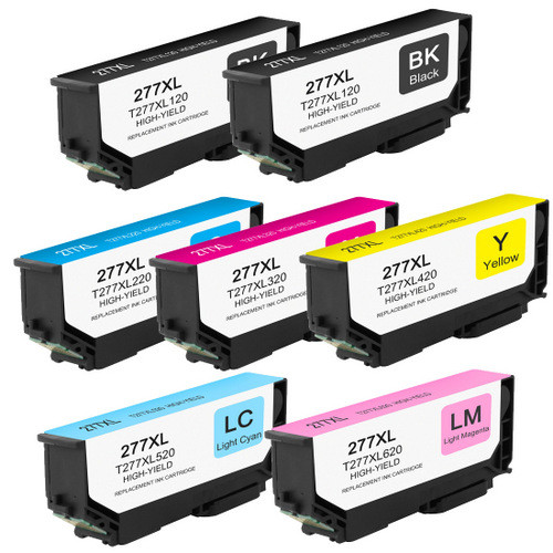 7 Pack - High Yield Ink Cartridge For Epson 277XL Set