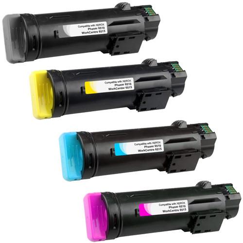 Xerox Phaser 6510 Toner Set Black, Cyan, Magenta, Yellow Extra High Yield