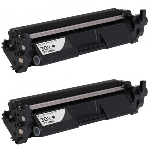 2-Pack, HP 30X Black Toner Cartridge, High Yield (CF230X)