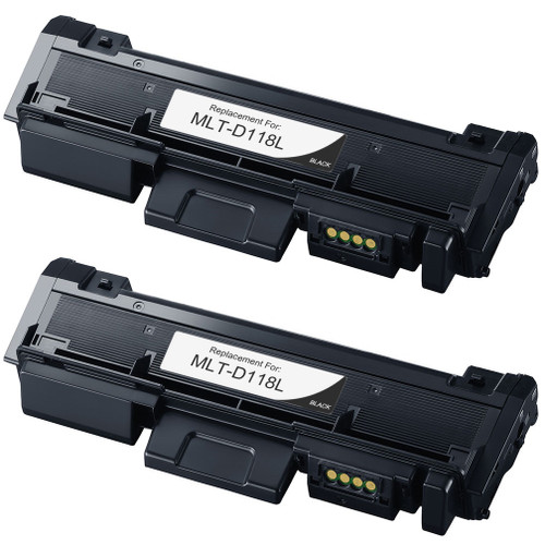Samsung MLT-D118L  Toner Cartridge - 2 pack