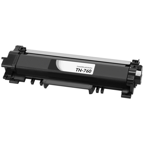 Brother TN760 High Yield Black Compatible Toner Cartridge