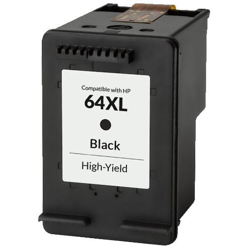 HP 64XL Black Ink Cartridge, High Yield (N9J92AN)