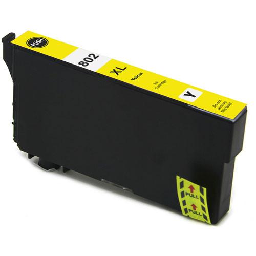 Epson 802XL Yellow Ink Cartridge, High Yield (T802XL420)