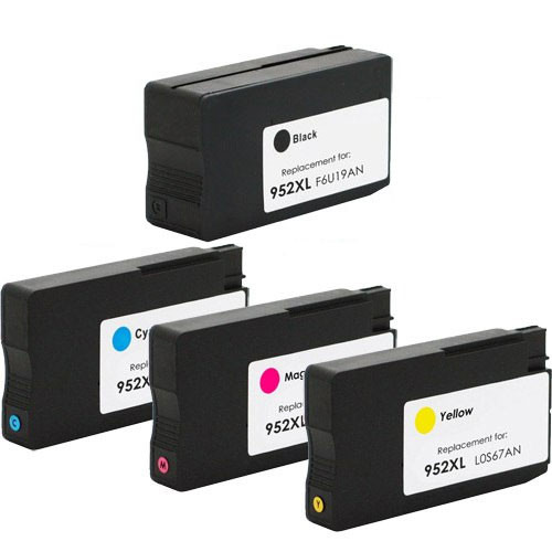 4 Pack - Remanufactured HP 952XL Ink Cartridge Set