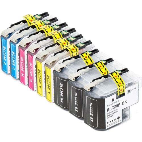 9-Pack Brother LC20E Ink Cartridge Set, Super High-Yield