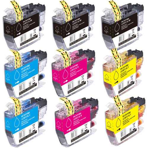 Brother LC3013 High-Yield Ink Cartridges - 9 Pack