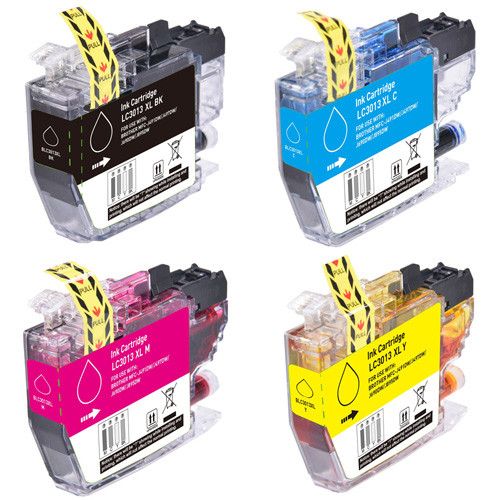 Brother LC3013 High-Yield Ink Cartridges, High-Yield - 4 Pack