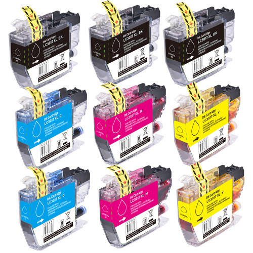 Brother LC3017 Ink, High-Yield - 9 Pack