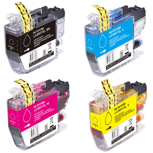 Brother LC3017 Ink, High-Yield - 4 Pack