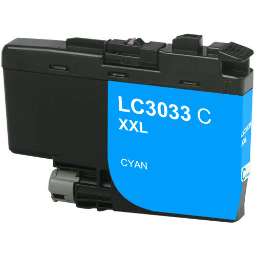 Brother LC3033 Cyan Ink, Super High-Yield