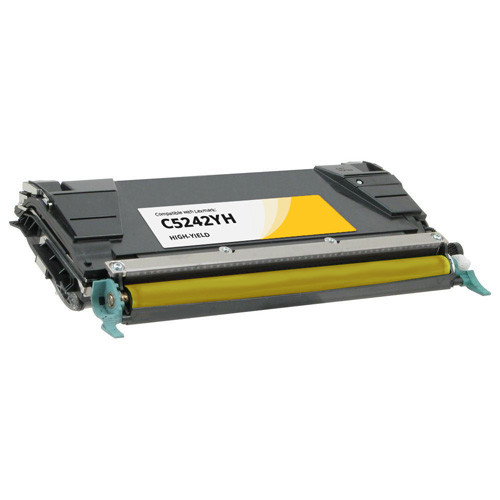 Lexmark C5242YH High-Yield Yellow Toner Cartridge