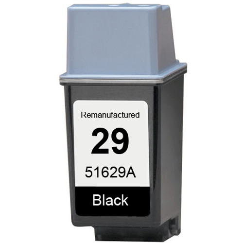 Remanufactured replacement for HP 29 (51629A) black ink cartridge