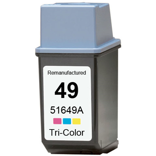 Remanufactured replacement for HP 49 (51649A) color ink cartridge