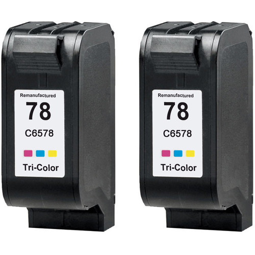 Twin Pack - Remanufactured replacement for HP 78 (C6578D) color ink cartridges