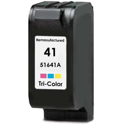 Remanufactured replacement for HP 41 (51641A) color ink cartridge
