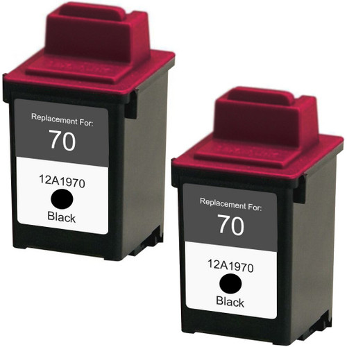 Twin Pack - Remanufactured replacement for Lexmark #70 (12A1970)