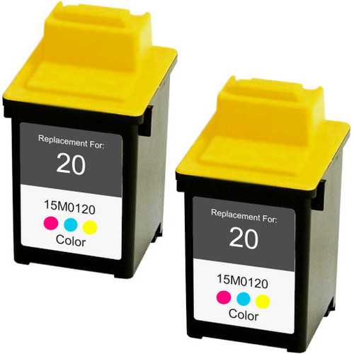 Twin Pack - Remanufactured replacement for Lexmark #20 (15M0120)