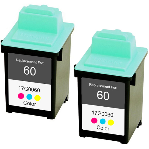 Twin Pack - Remanufactured replacement for Lexmark #60 (17G0060)