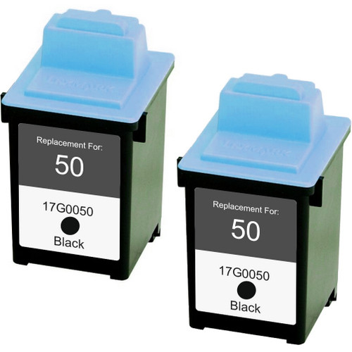 Twin Pack - Remanufactured replacement for Lexmark #50 (17G0050)