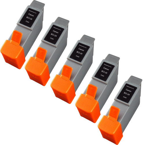5 Pack - Compatible replacement for Canon BCI-24 color ink cartridges
