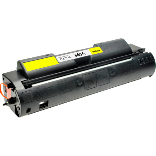 Remanufactured replacement for HP 640A (C4194A) yellow laser toner cartridge