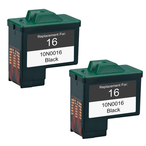 Twin Pack - Remanufactured replacement for Lexmark #16 (10N0016)