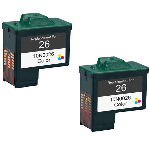 Twin Pack - Remanufactured replacement for Lexmark #26 (10N0026)